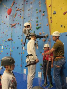 Climbing in action!